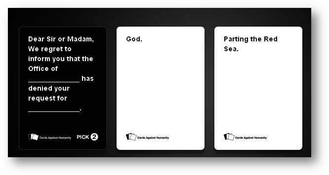 cards against humanity |